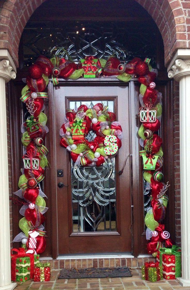 Decorating Decorative Front Door Mats Christmas Decoration For Front Door Large Christmas Outdoor Decorations 736x1121 Home Interiors Wall Decor Front Door Christmas Decorating Ideas
