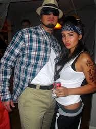 Mexican gangster couple. Are you down with day brown.