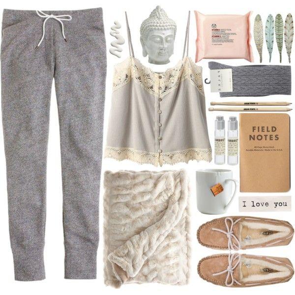 Fleecy by vv0lf on Polyvore - Lingerie, Sleepwear & Loungewear - http://amzn.to/2ieOApL