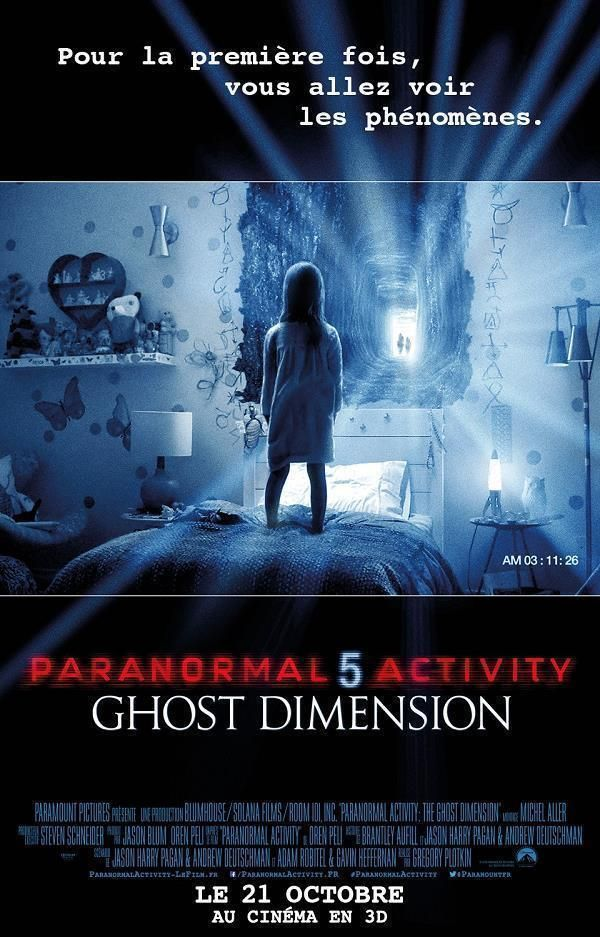 Paranormal Activity: The Ghost Dimension  Support: Bluray 1080    Directors: Gregory Plotkin    Year: 2015    Actors: Chris J. Murray, Brit Shaw, Ivy George, Lauren Frandsen, Tyler Craig, Dan Gill, Olivia Taylor Dudley, Michael Krawic, Chloe Csengery, Jessica Tyler Brown, Hallie Foote, Mark Steger