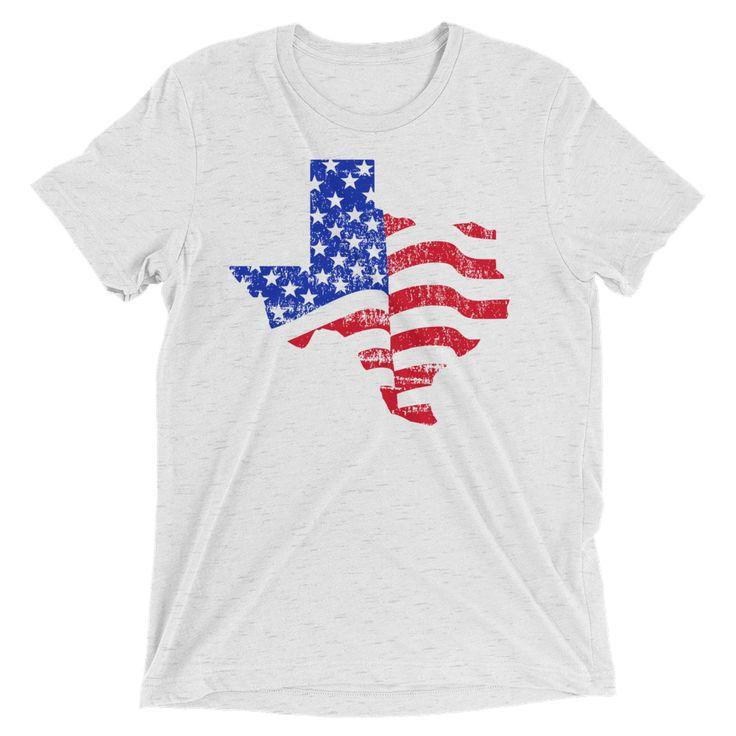 American Flag Texas Short Sleeve T-shirt