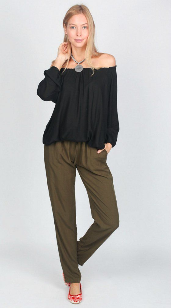 Adrift Ruby Peasant top | Surafina @ Adrift everyday pant