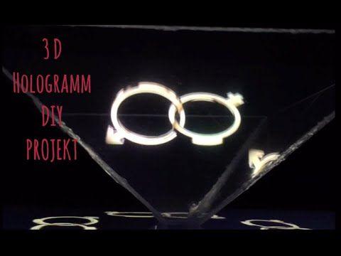 3D Hologramm Projektor - How to make DIY 3D Hologram - YouTube