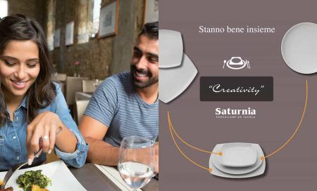 Stanno bene insieme, campagna Creativity Saturnia Porcellane