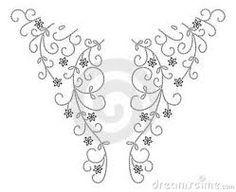 Resultado de imagem para hand embroidery designs for neck