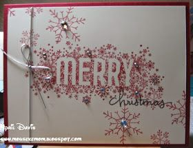 Merry gift card holder using Seasonally Scattered and Endless Wishes - Stampin up, Christmas card