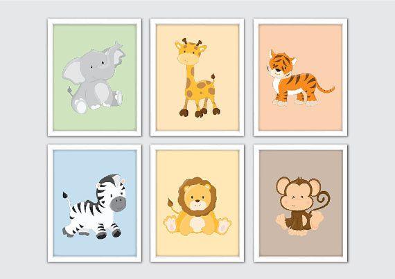Jungle Nursery Art Safari by RomeCreations