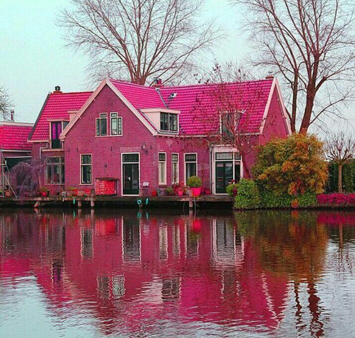 Pink House In Norway