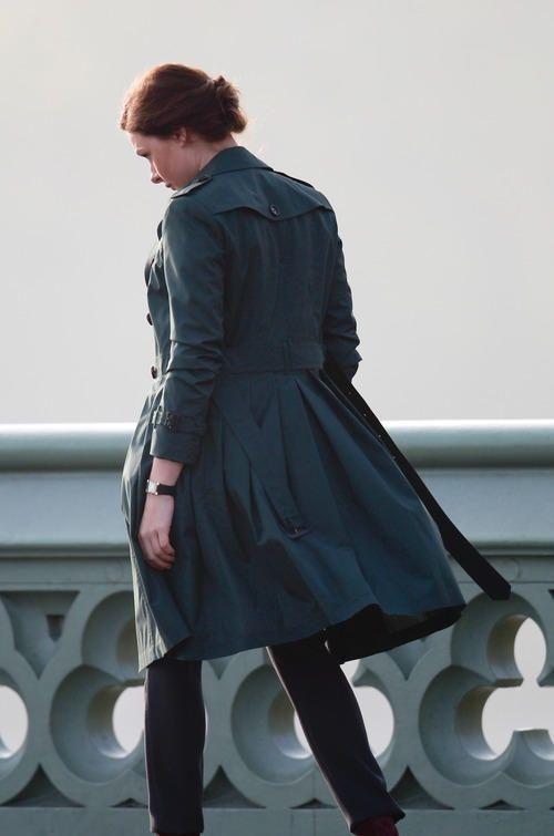 Rebecca Ferguson Mission Impossible 5 long coat