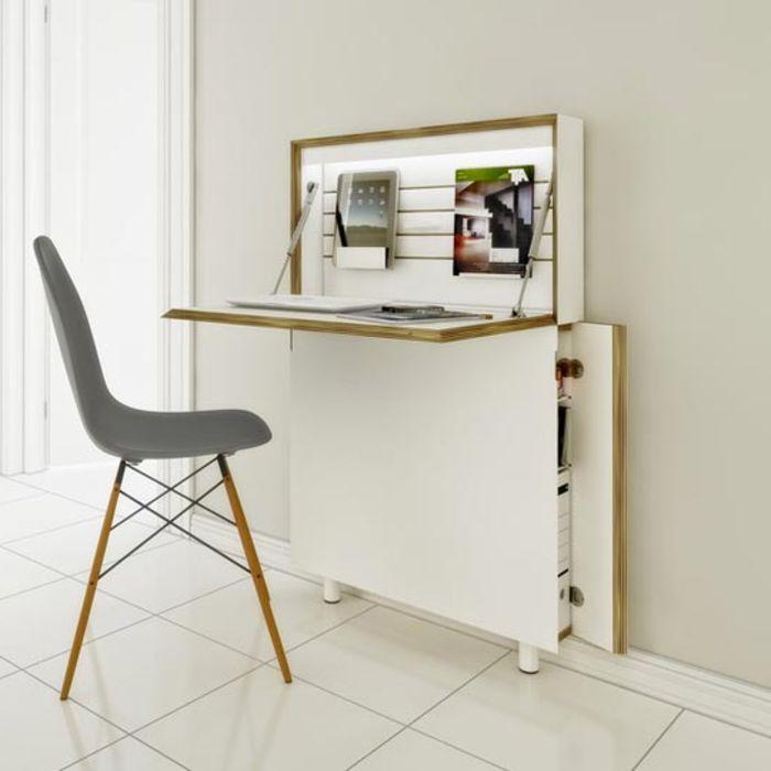 Les 25 meilleures id es de la cat gorie bureau pliable sur for Bureau petit espace