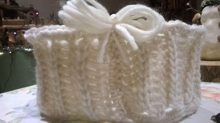 scalda collo baby in lana bianca età 1-4 anni