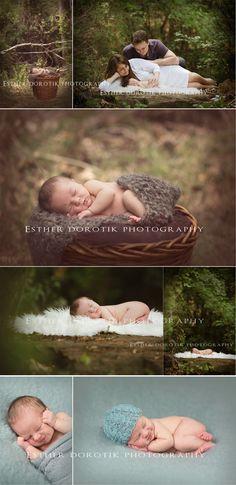 newborn photography, outdoor newborn photography, family photography, unique outdoor photography