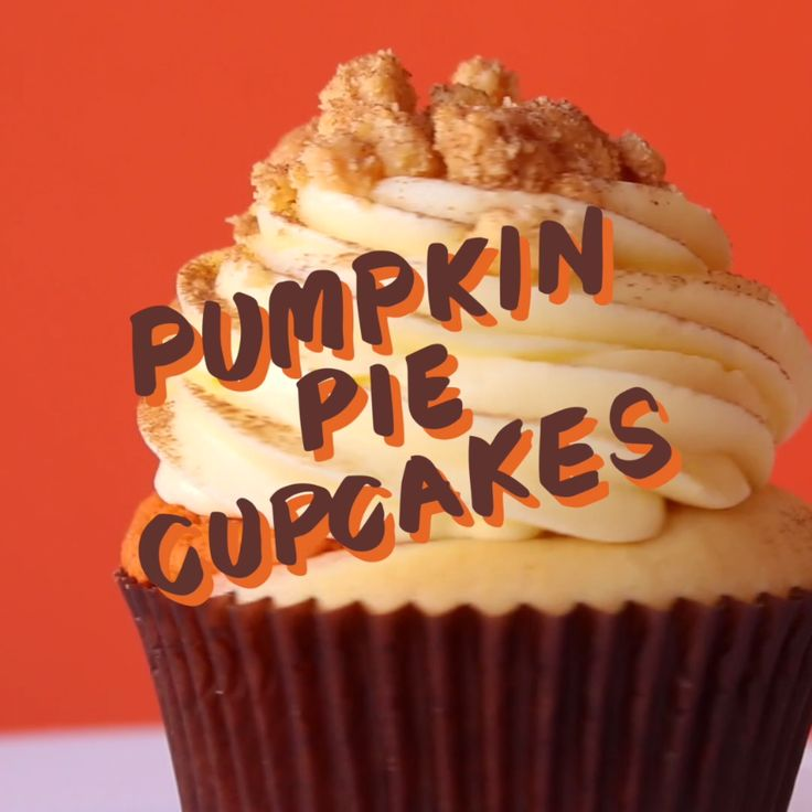 This is a rich, decadent pumpkin pie in a cupcake. It's moist and sweet. It's Fall in your mouth!