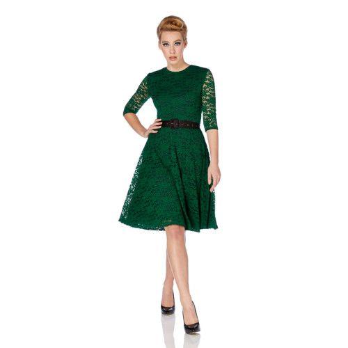 Geweldig mooie retro jurk van soepel vallende kant.