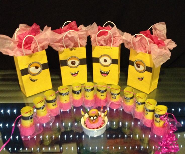 All of Alana's DIY girl minion birthday party stuff