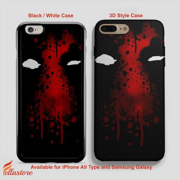cool Deadpool Face iPhone 7-7 Plus Case, iPhone 6-6S Plus, iPhone 5 5S SE, Samsung Galaxy S8 S7 S6 Cases and Other