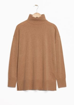 & Other Stories image 2 of Cashmere Turtleneck Sweater in Beige