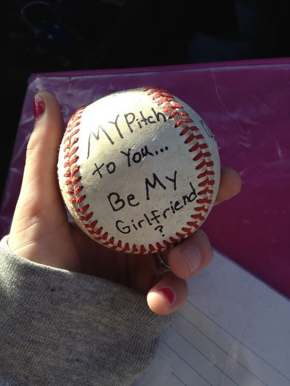 If you're a baseball player, this is the cutest way to ask your girl out    Cute ways to ask a girl out   Pinterest   Girls out, The o'jays and Love  this