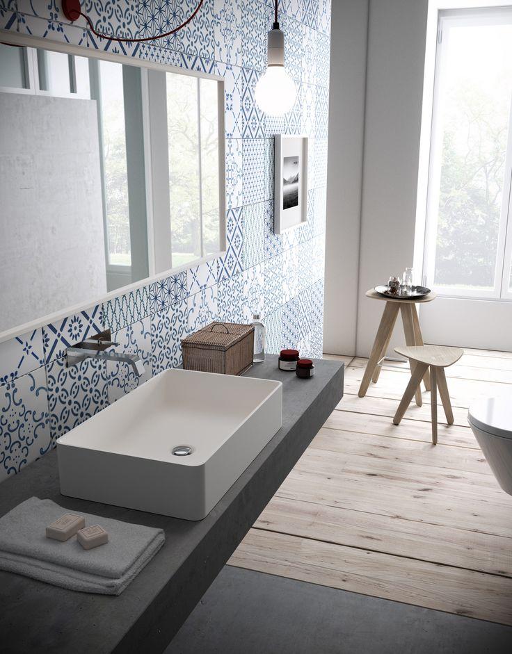 Countertop rectangular HI-MACS® washbasin CB540R by @HIMACS
