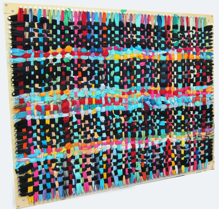 Plans For Rag Rug Loom: Giant Loom For Making Rugs Like Pot Holders Out Of Big