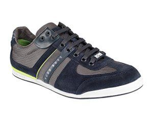 BOSS Green Akeen Sneakers pour homme bleu 415 taille 42: Tweet Hugo Boss Trainer Akeen in Navy & Lime. Trainer by Hugo Boss Green Label. 8…