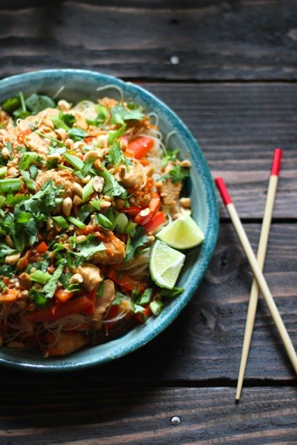 Ginger Peanut Hoisin Noodles with Chicken | Noodles, Peanuts and ...