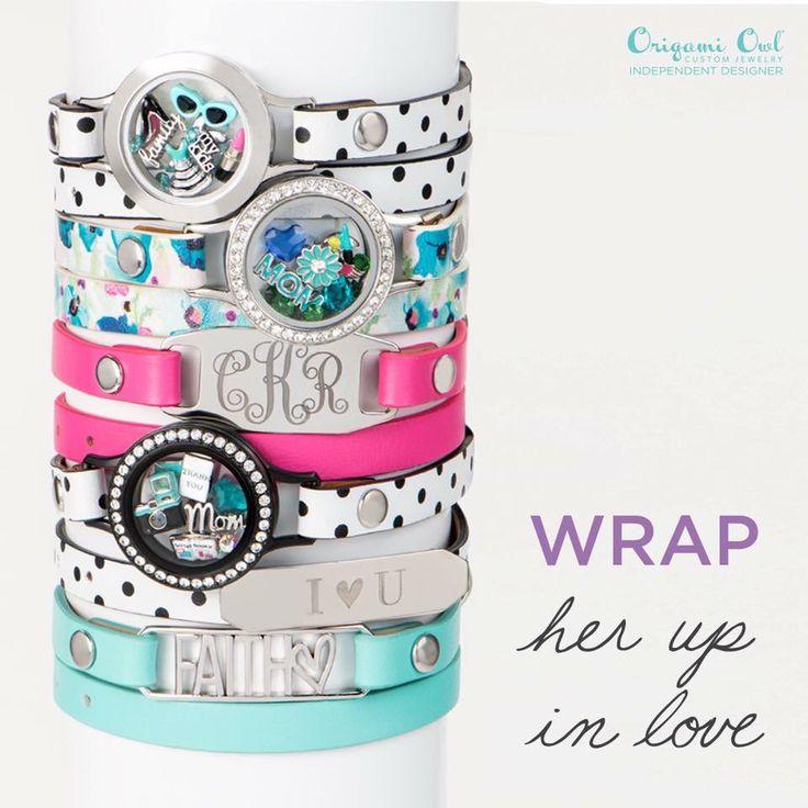 Origami Owl - leather wrap bracelets, personalized bracelets