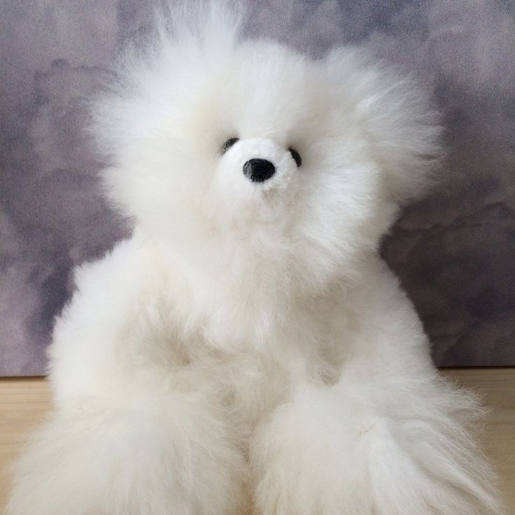 Soft and snuggly, fall in love with these alpaca teddy bears. Decorative use, not intended for children.