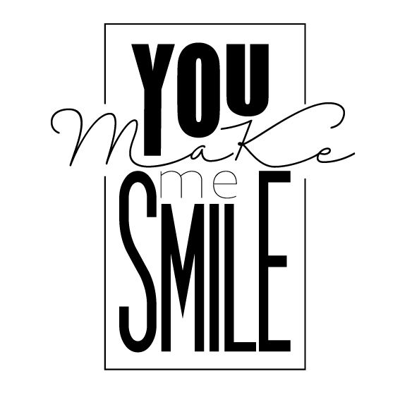 you-make-me-smile | Handlettering by @barbrusheson