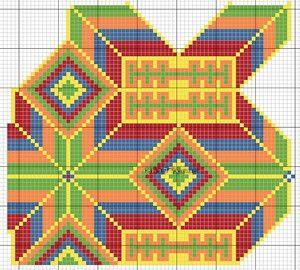 Mochila colombiano. Knitting bolsa jacquard ganchillo