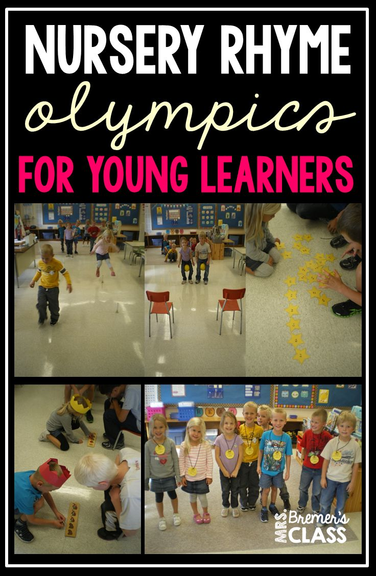 Nursery Rhyme Olympics- A Post FULL of Games and Activities for Kindergarten