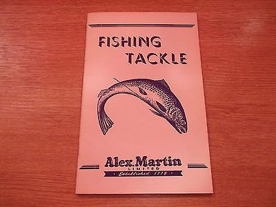 Fishing Tackle Alex Martin 1958 Catalogue Rods Reel Flies Fly Fishing Price List