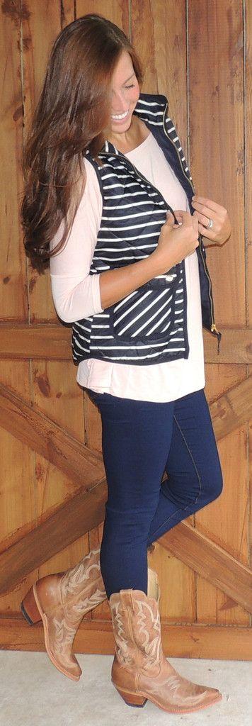 Navy Puffer Vest #ShopMCE