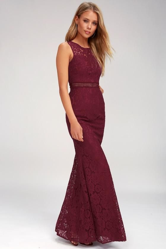 6dd690a23df  AdoreWe  Lulus -  Lulus Music of the Heart Burgundy Lace Maxi Dress - Lulus  - AdoreWe.com