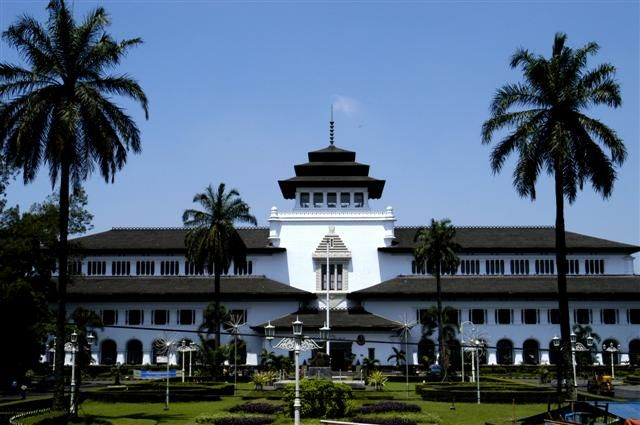 "Gedung Sate, (Satay House) Bandung ""City of Flower"""