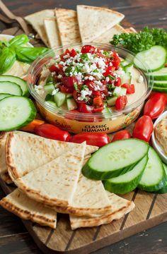 Mediterranean Bruschetta Hummus Platter
