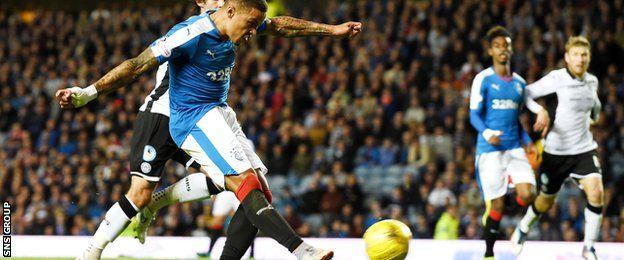 James Tavernier lashed in his seventh goal of the season for Rangers v St Johnstone