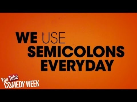 Semicolon by The Lonely Island, Hilarious Lyric Video About How to Use Semicolons; Improperly