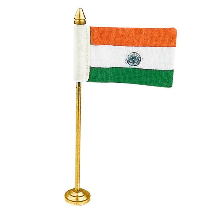 Indian Miniature TV Flag Khadi Cotton Small Size