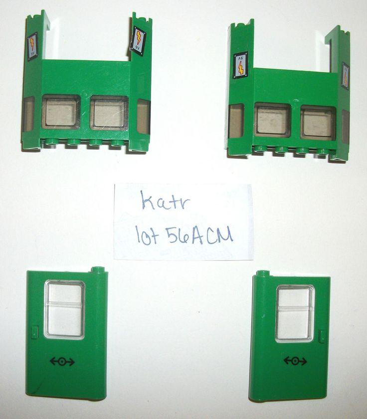 LEGO 7898 Parts Green Cargo Train Doors 2924 4182 4181 10183 4558 4563 10001 lot #LEGO