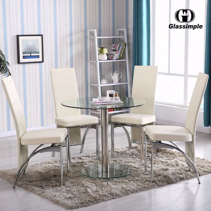 Cheap Glass Dining Room Sets: 17 Best Ideas About Round Kitchen Table Sets On Pinterest