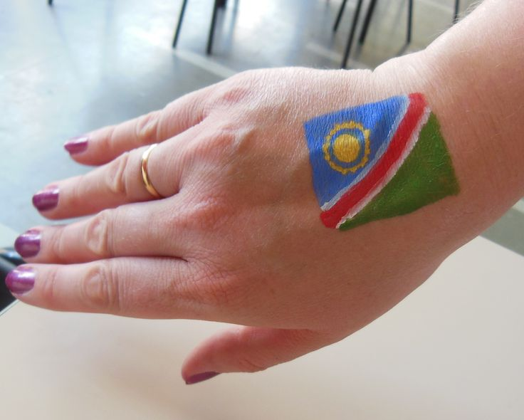 Flag hand painting
