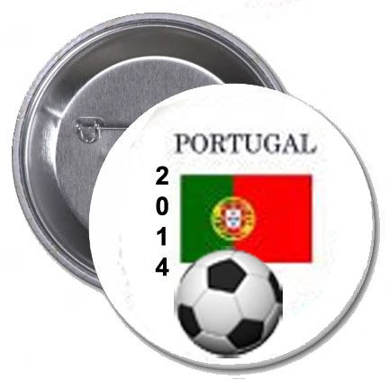Portugal Soccer Flag 2014 Team Player Pin Back Button 2.25 | www.balligifts.com