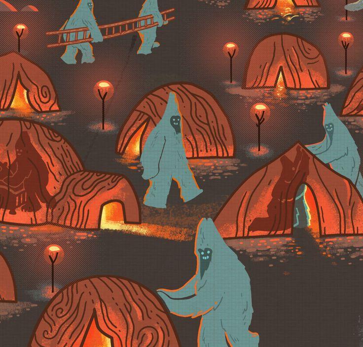 Detail from Graham Carter's Yeti/Hibernation