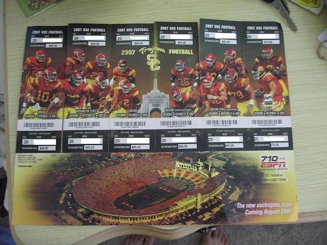 2007 USC Football Season Tickets