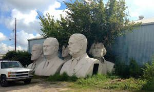 The strange story behind these massive, abandoned Presidential busts - Posted on Roadtrippers.com!