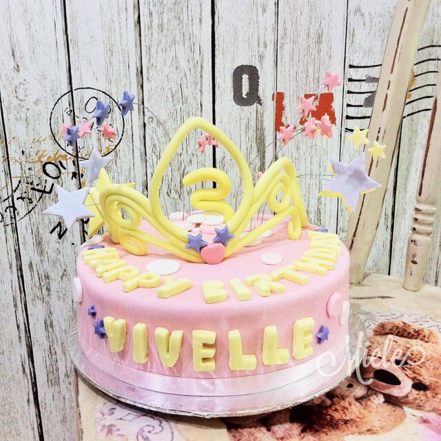 My first tiara cake. Not for the faint of heart lol. Break easily
