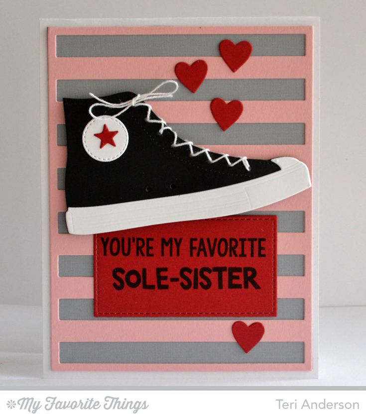 Be Original, Swiss Dots Background, All-Star High Top Die-namics, Stripes Cover-Up Die-namics - Teri Anderson #mftstamps
