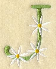Daisy Letter J (3 Inch)