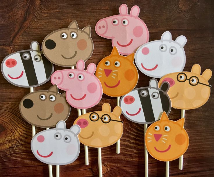 12 - PEPPA PIG Cupcake and Cake Toppers Birthday Party Supplies by TheTopperShoppe on Etsy https://www.etsy.com/listing/489870436/12-peppa-pig-cupcake-and-cake-toppers